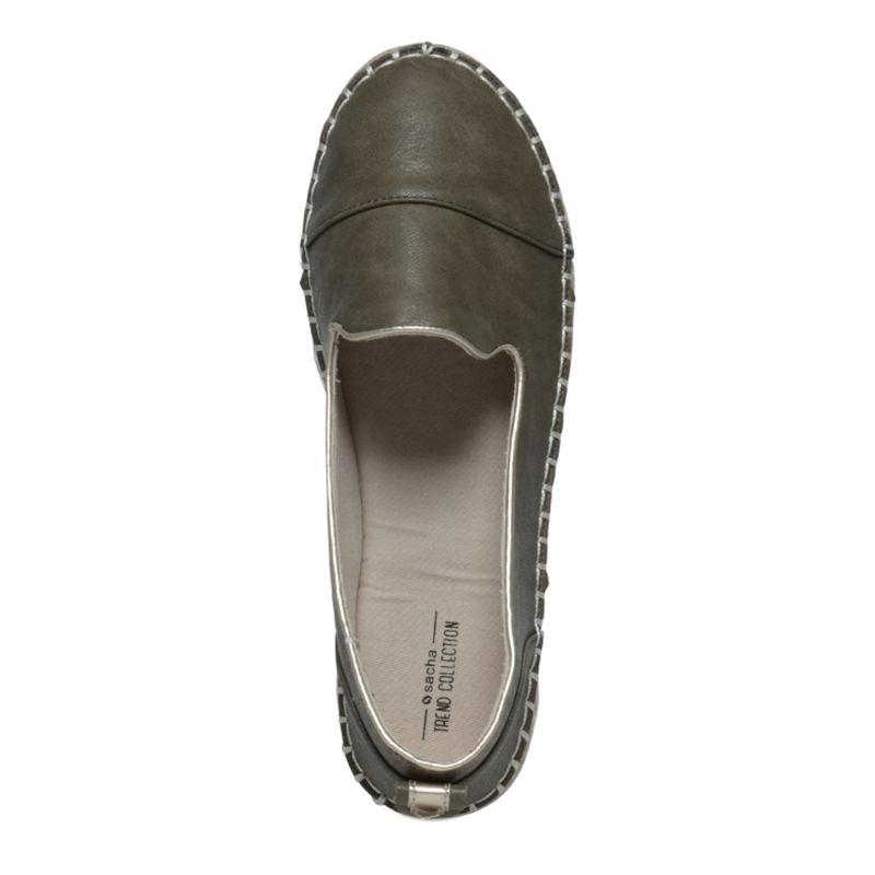 Espadrille loafers groen