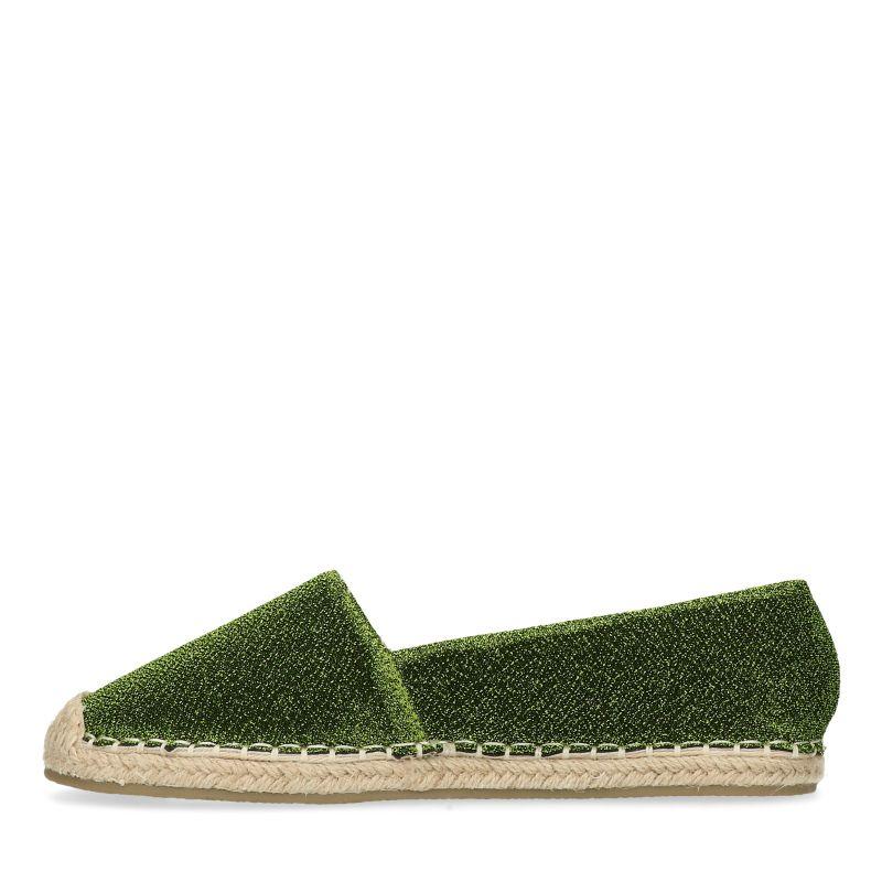 Groene glitter espadrilles