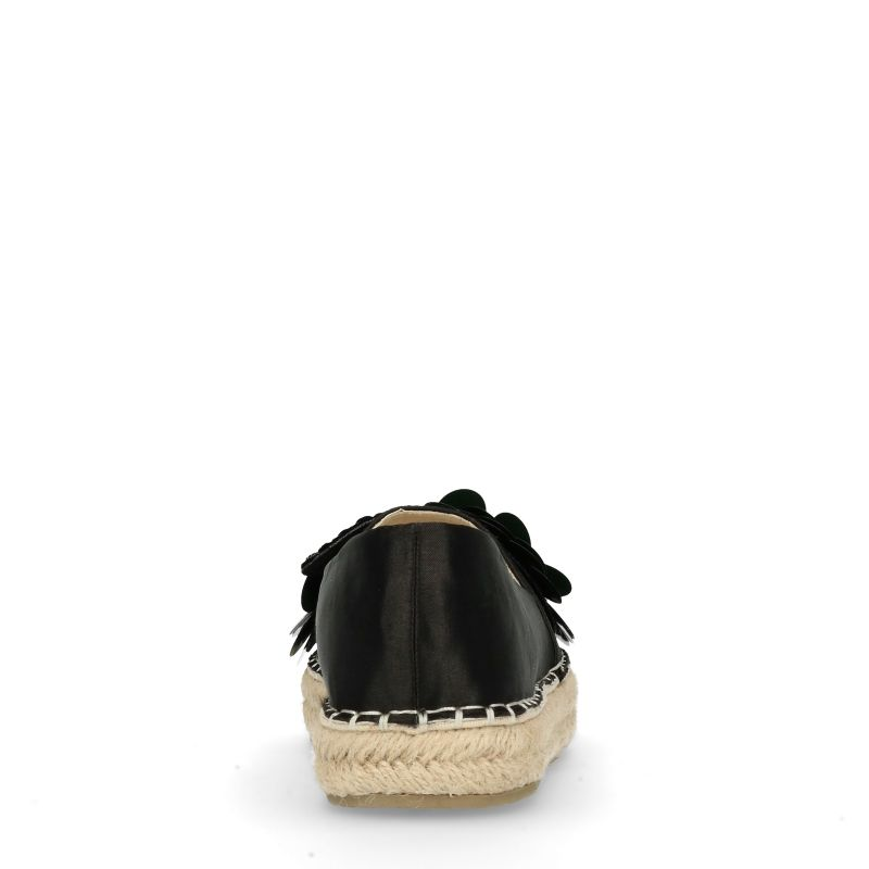 Zwarte espadrilles met pailletten