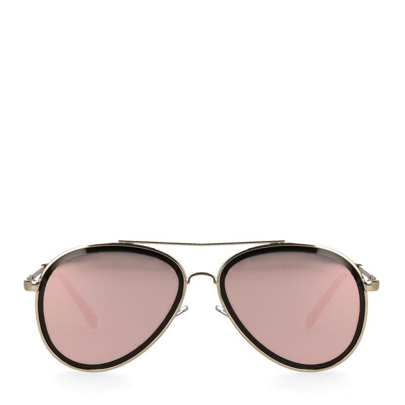 Gouden pilotenbril met zwart detail