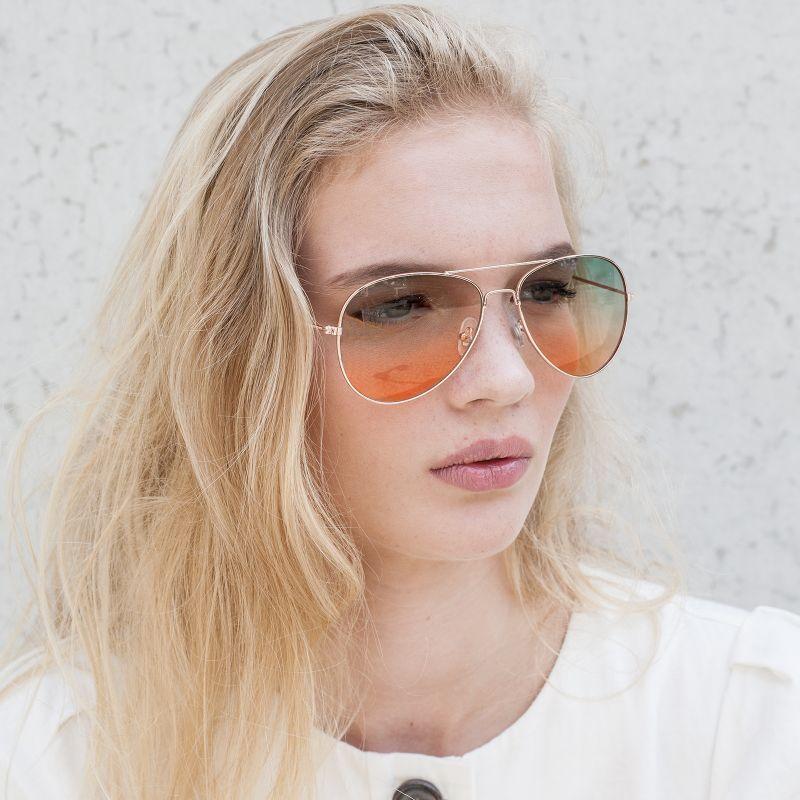 Gouden pilotenbril