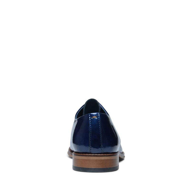 Donkerblauwe lakleren veterschoenen