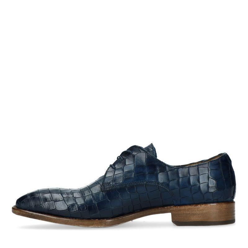Giorgio Azzuro 974110 blauwe kroko veterschoenen