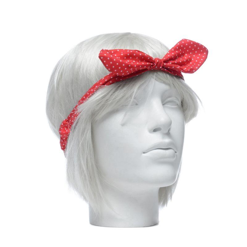 Set van 2 haarbanden zwart/rood