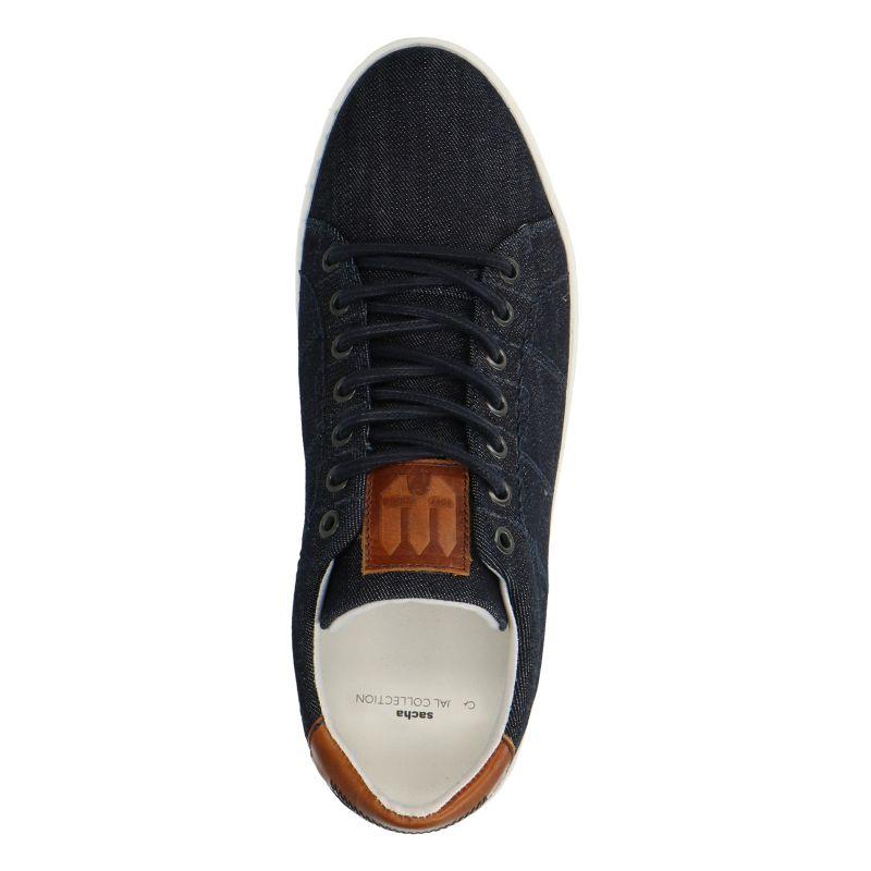 Blauwe lage sneakers