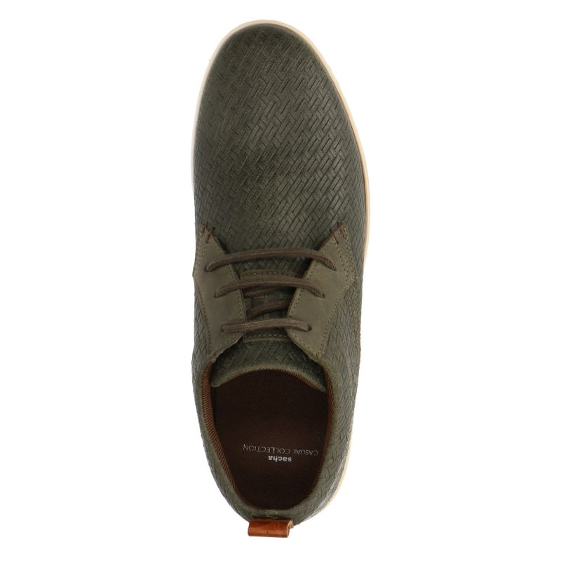 Groene sneakers met gewoven details