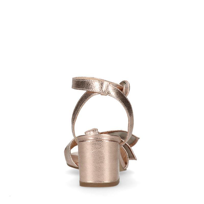 Metallic roze sandalen met hak