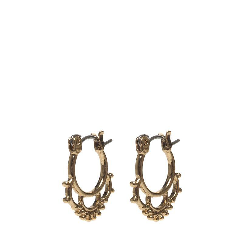 Goudkleurige oorbellen met details