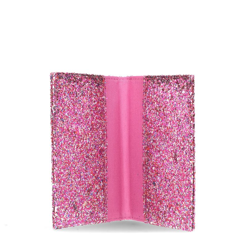 Paspoorthoes met roze glitters