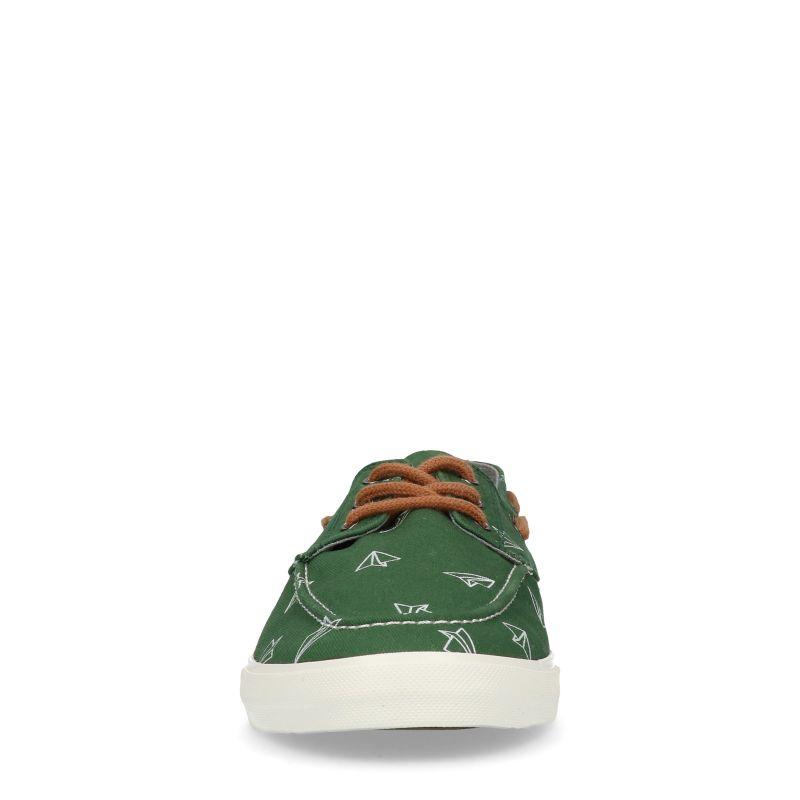 Baskets avec motif avions en papier - vert