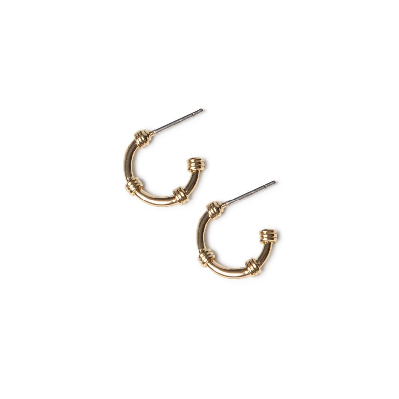 LUZ nautic earhoops goud