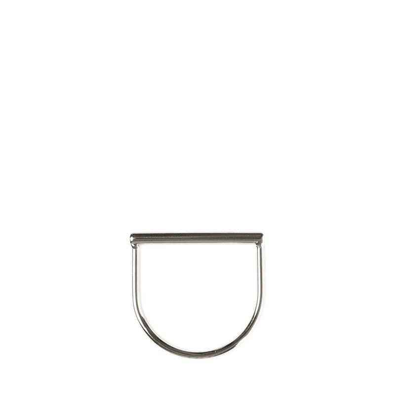 LUZ tubular ring zilver