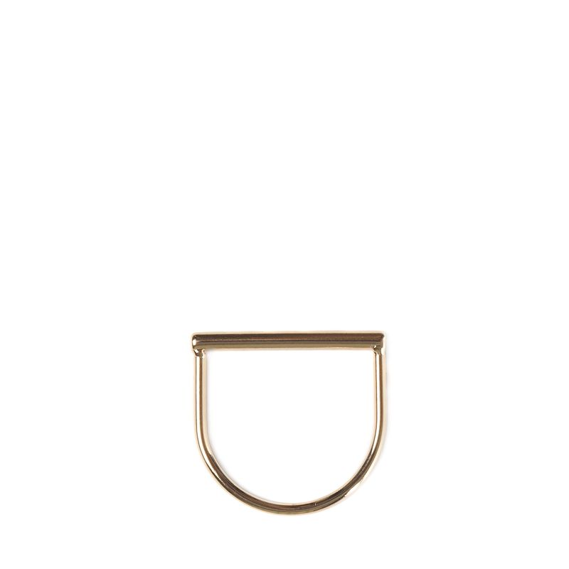 LUZ tubular ring goud