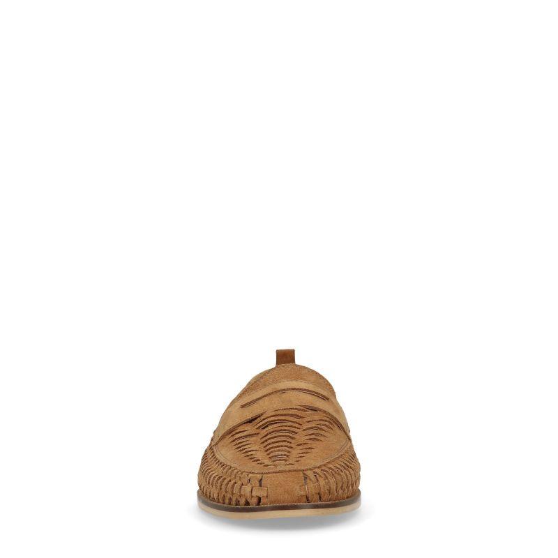 Bruine loafers met opgenwerkte details