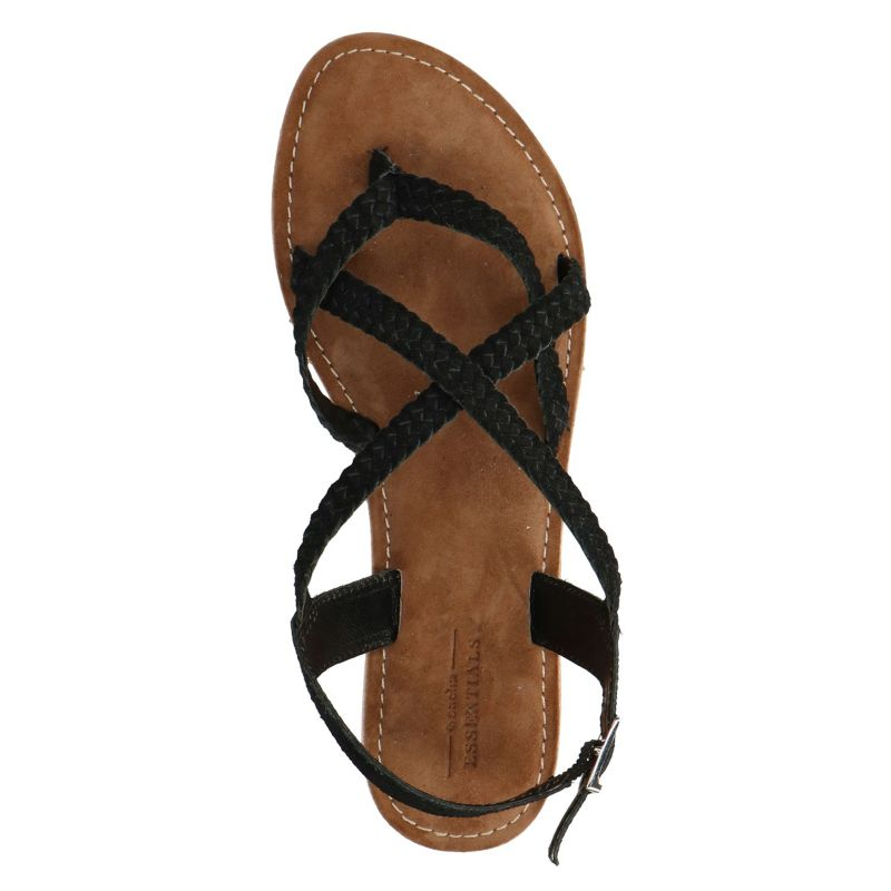 Zwarte gevlochten sandalen