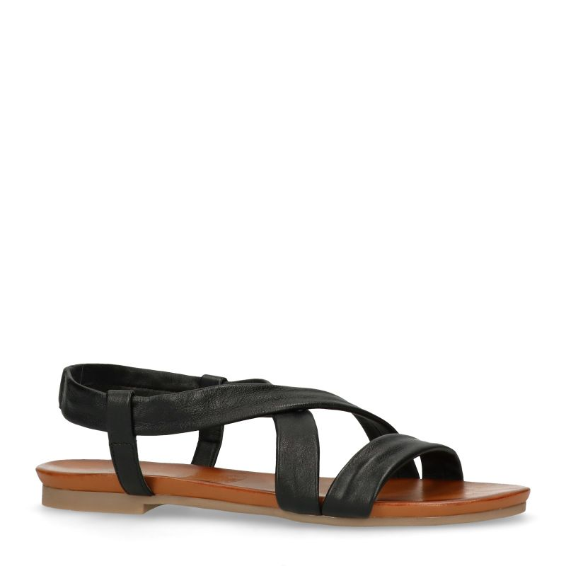 Zwart leren sandalen