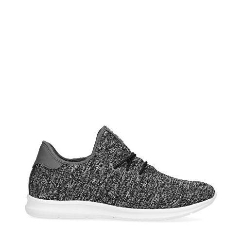 Zwarte gemêleerde sneakers