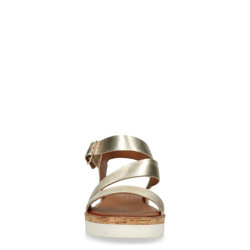 Gouden metallic plateau sandalen
