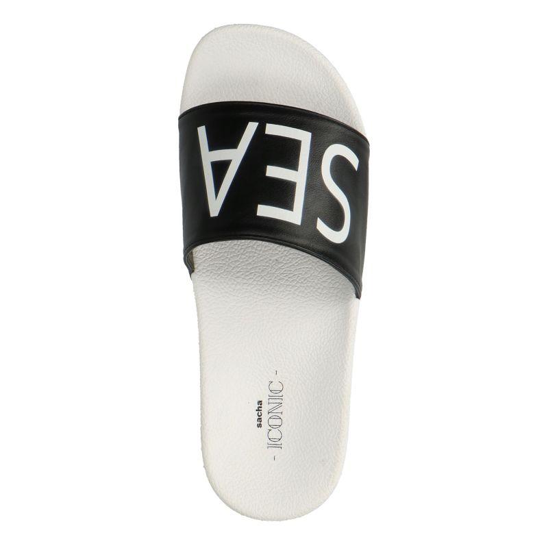 Zwarte platform slippers SEA YOU