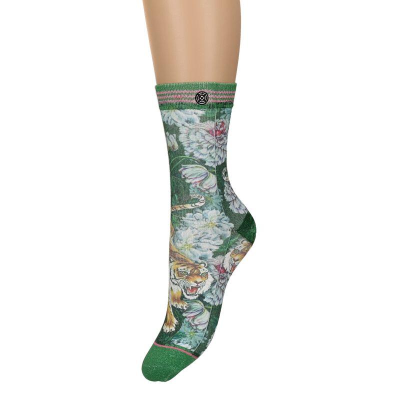 XPOOOS sokken met bloemen en tijgers