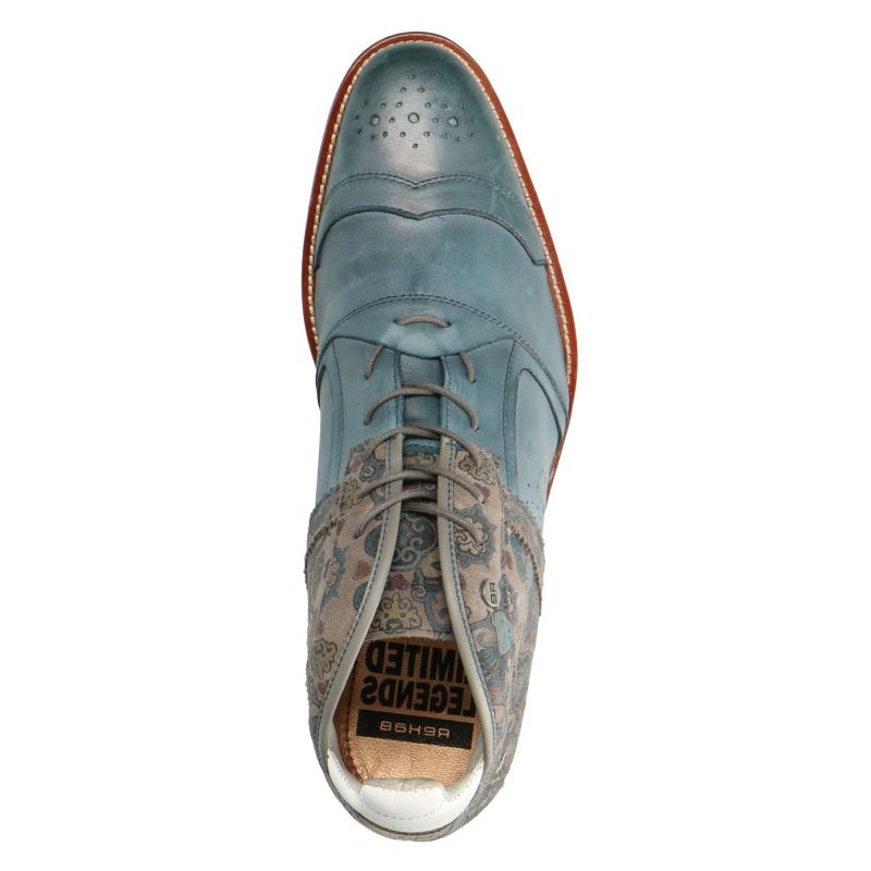 REHAB Kurt II Ben tattoo blauw veterschoenen