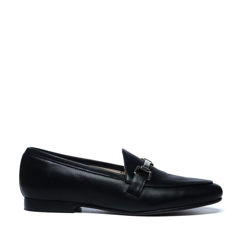 Zwarte leren loafers