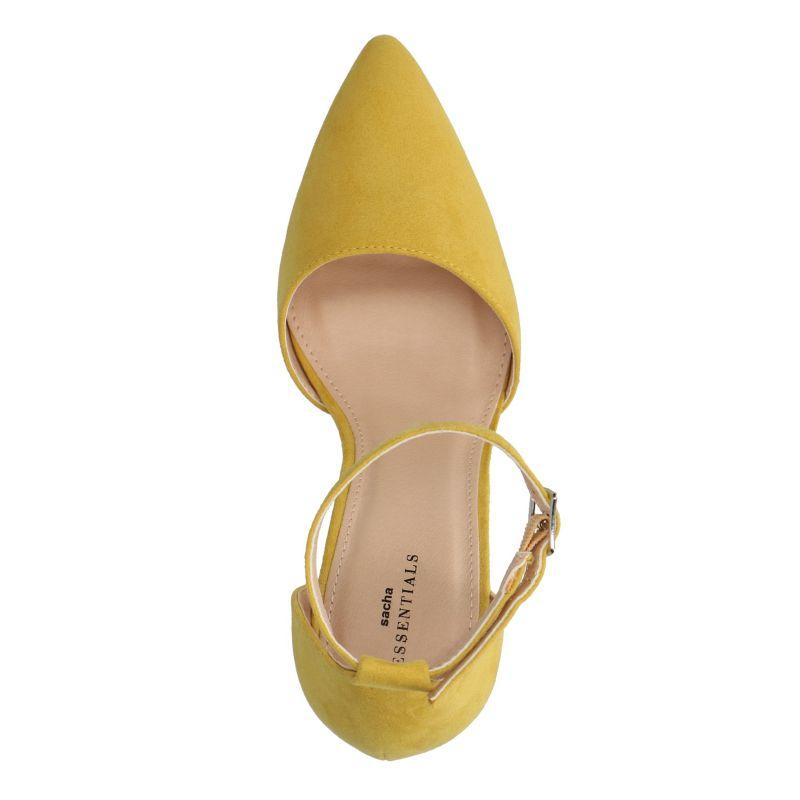 Escarpins avec bride cheville - jaune