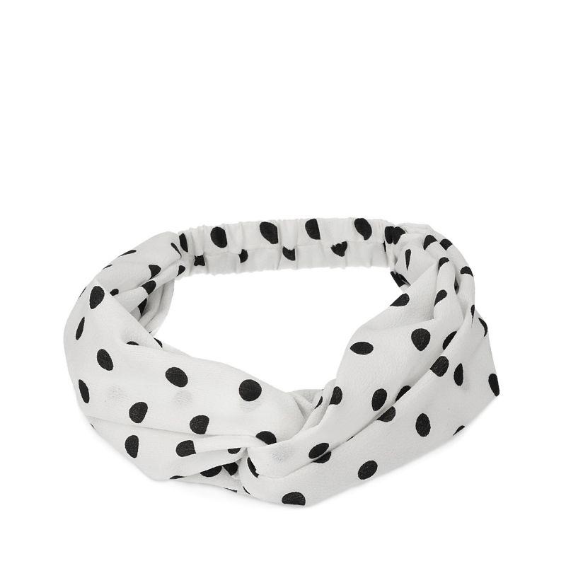 Witte haarband met zwarte dots