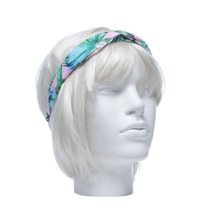 Roze haarband met motieven