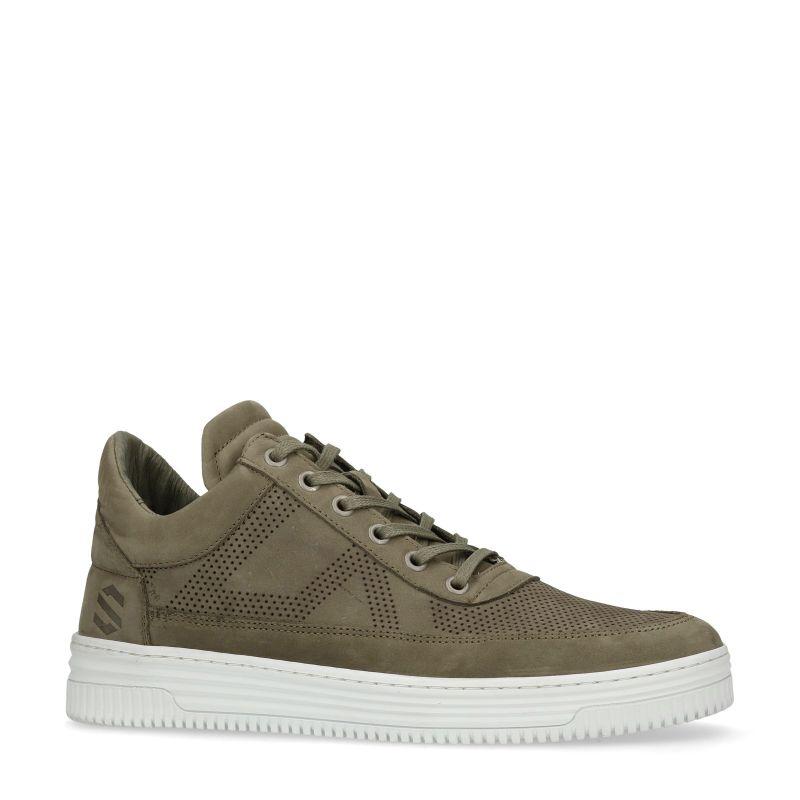 Groene hoge sneakers