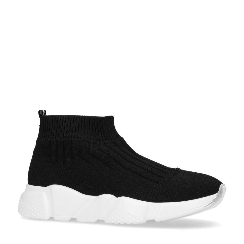 Zwarte sok sneakers