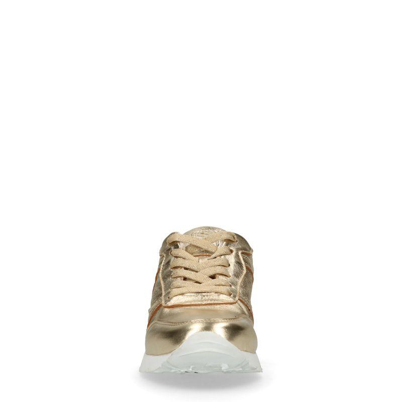 Metallic gouden lage sneakers