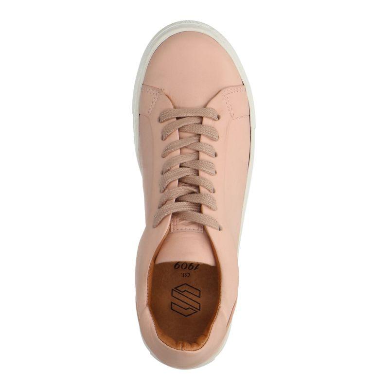 Lichtroze lage sneakers