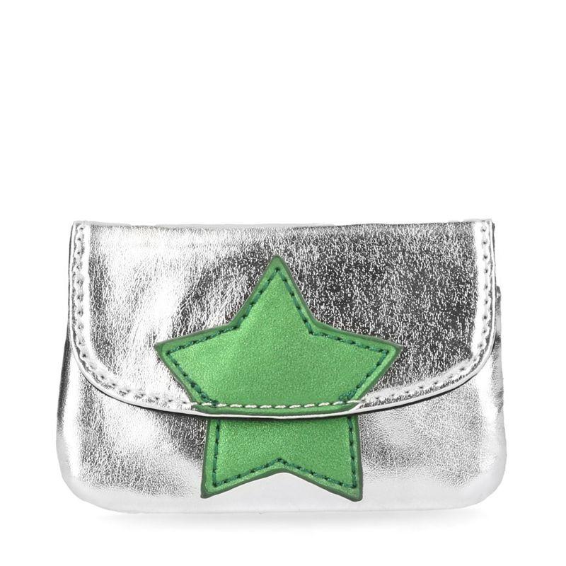 Zilveren kleine portemonnee met ster