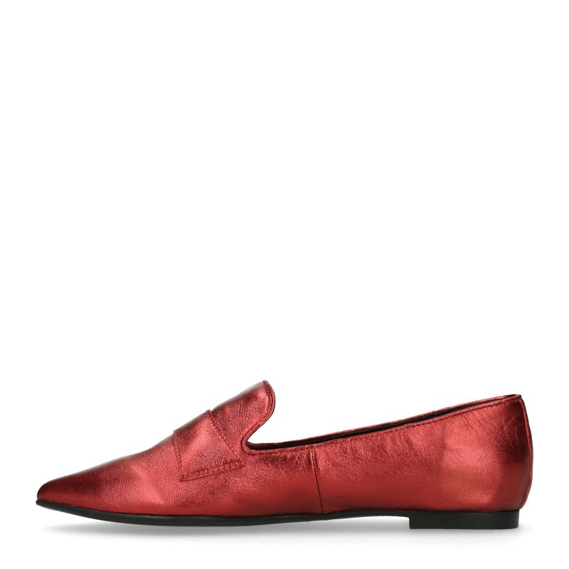 Metallic rode loafers
