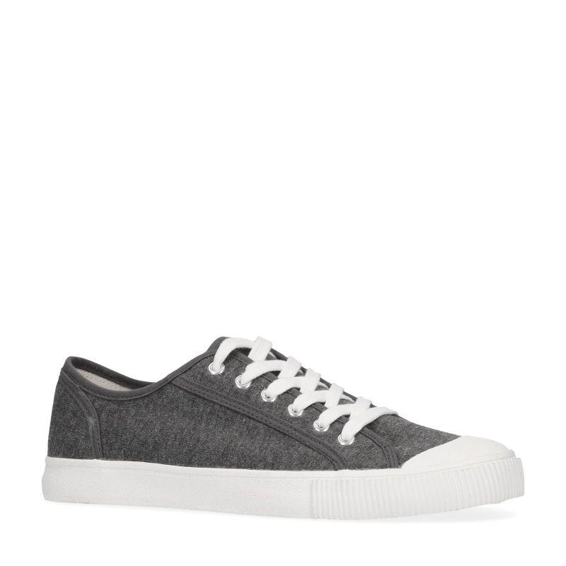 Grijze sneakers met witte zool