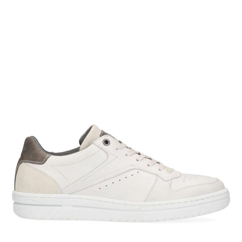 Off white sneakers met grijze detail