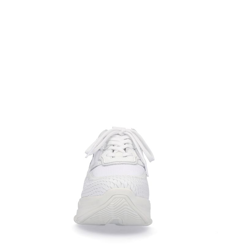 Dad sneakers avec motif peau de serpent - blanc