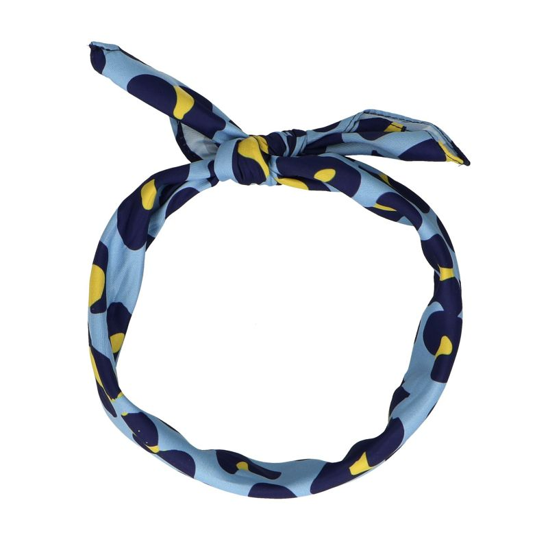 Foulard avec imprimé panthère - bleu clair