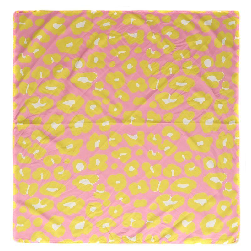 Sjaaltje met panterprint multicolor