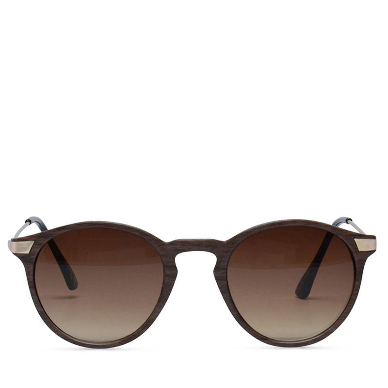Houtlook retro zonnebril unisex