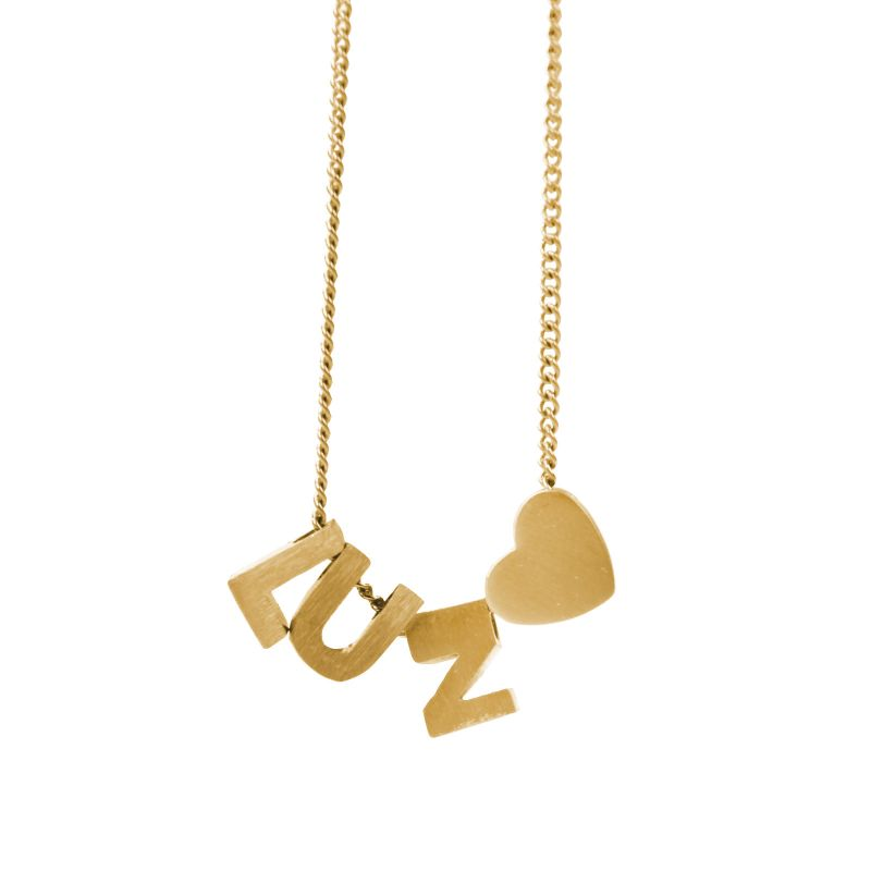 LUZ basis ketting initials gold