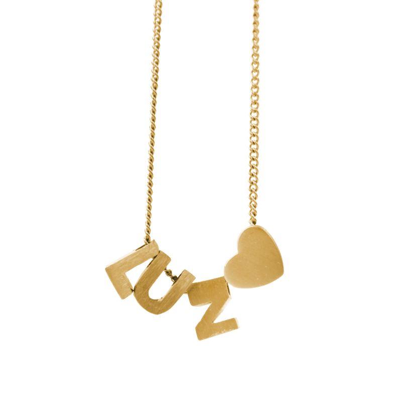 LUZ gouden bedel letter E