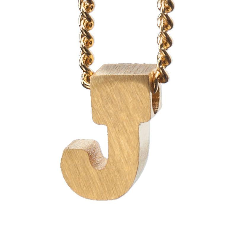 LUZ - gouden bedel letter J