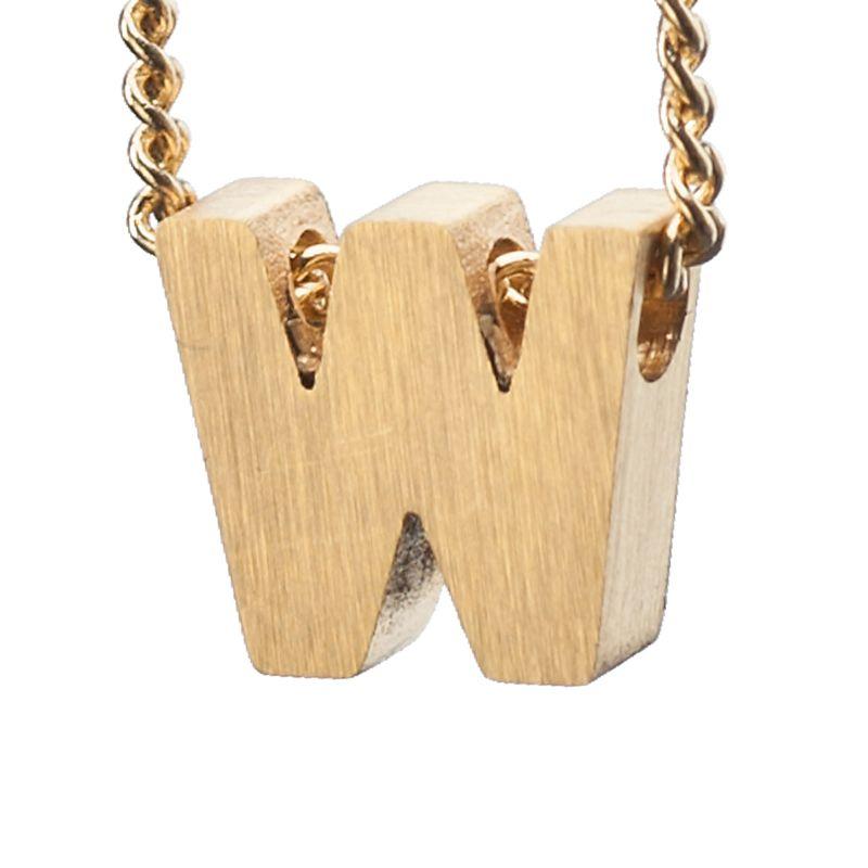 LUZ - gouden bedel letter W