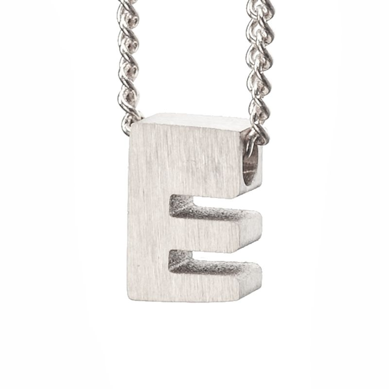 LUZ - zilveren bedel letter E