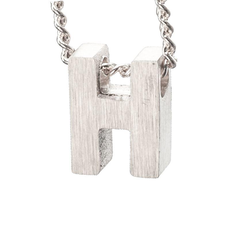LUZ - zilveren bedel letter H