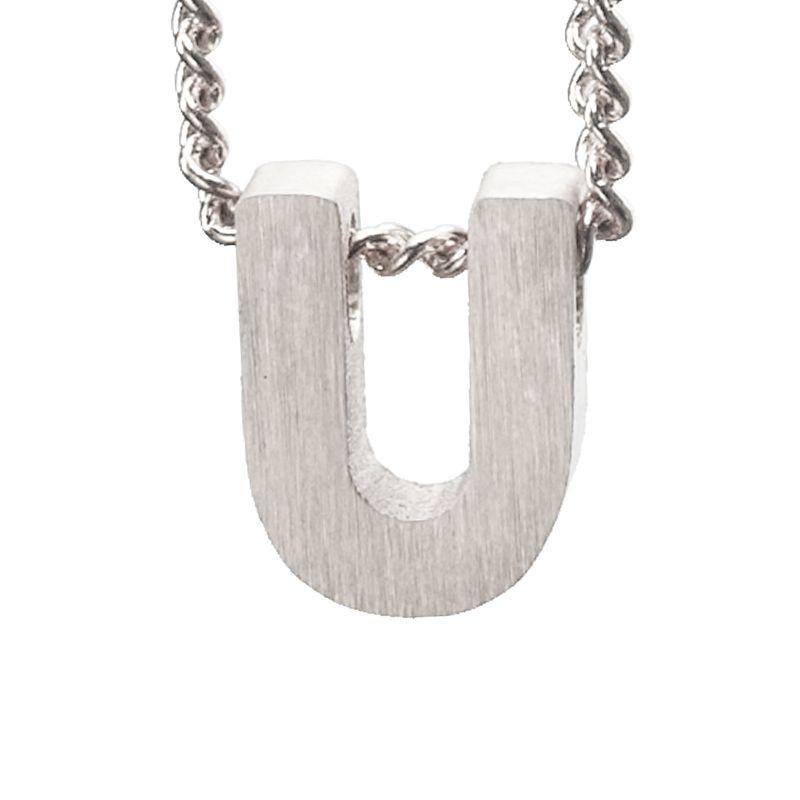LUZ - zilveren bedel letter U