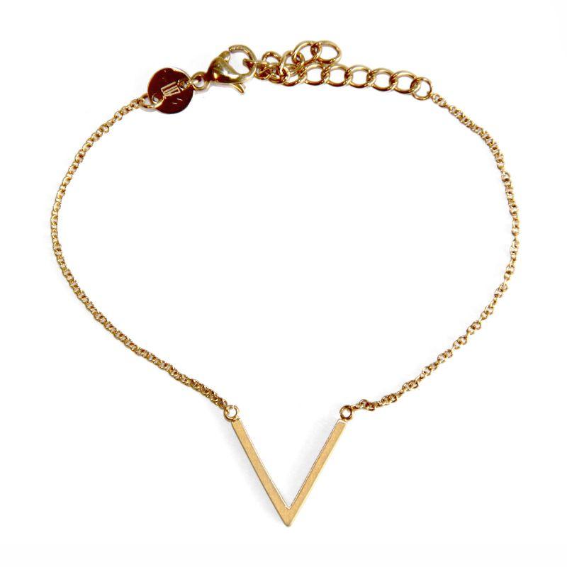 LUZ - V-Armband - gold