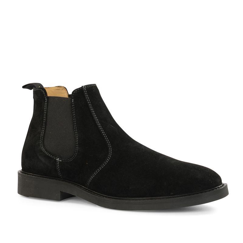 gant schwarze chelsea boots aus veloursleder. Black Bedroom Furniture Sets. Home Design Ideas